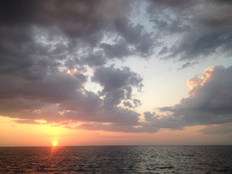sunset in campeche