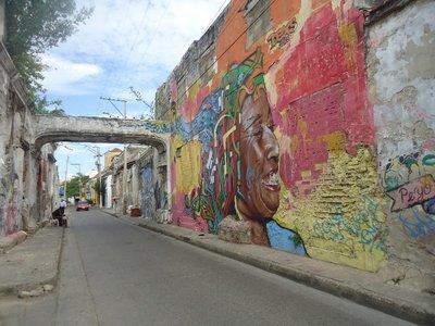 graffito nel quartiere Getsemanì