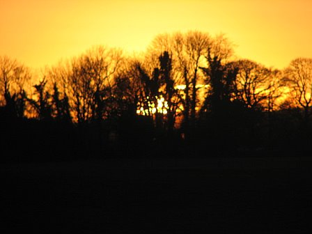 sunset from our house in ireland