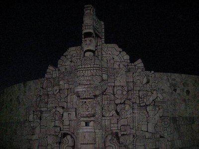 Maya Skulptur in Merida