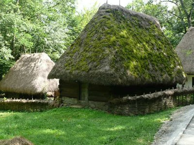 old thatched units