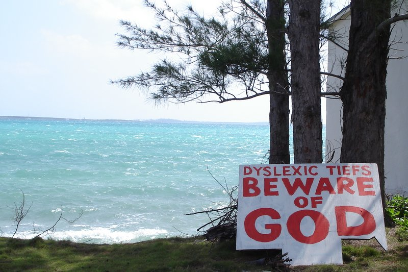 Funny sign on New Providence Isl., Bahamas
