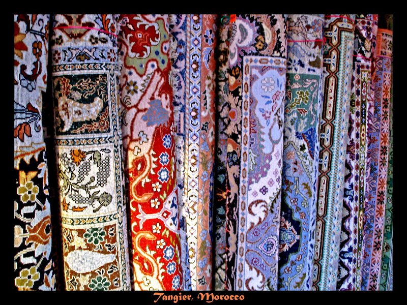 Carpet shop in Tangier