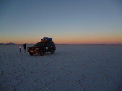 Sunrise on salt flats