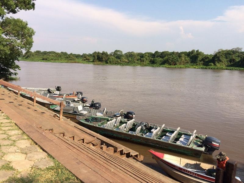 Our boat on Miranda river