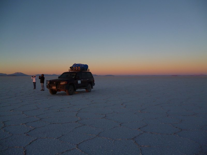 Sunrise on salt flats