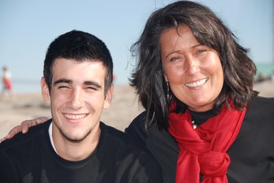 Tanner and Mommy planning our Greece Adventure 2011