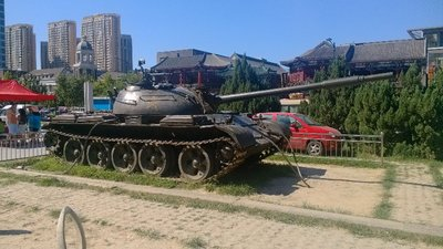 Churches and tanks
