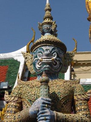 Angry man at the grand palace