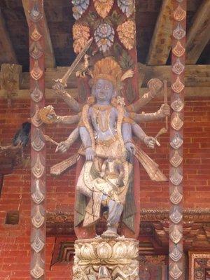 Woodwork Changu Narayan temple