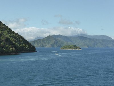 Marlborough sounds from ferry