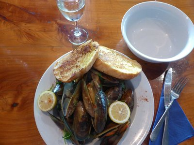 Delicious green lipped mussels