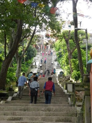 Stairs to ...... Stupa