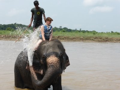 Shower with elefant