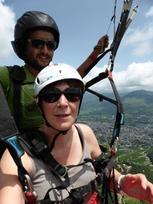 Tandem paragliding with laxman