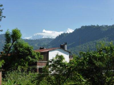 Annapurna mountain range from pokhara