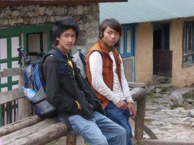 The Porter boys: Mingmar and Suraj