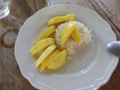 My mango sticky rice, the best I had in Thailand but I need dressing practise