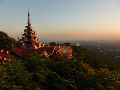 Mandalay hill at sunset