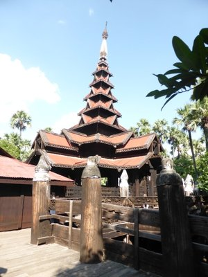 Very touristy teak monestry in Inwa - Bagaya Kyaung