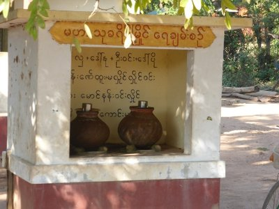 Drinking water for locals,  everywhere in Myanmar