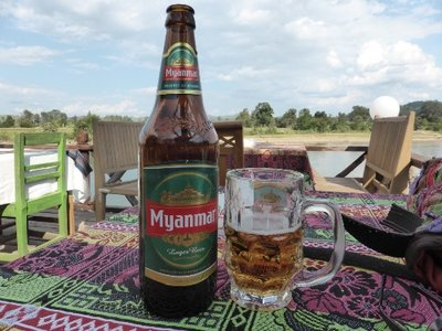 Myanmar beer after a hot day
