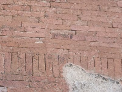 Brick wall, no mortar is used