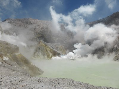 Cooking lake in crater