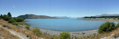 Very blue Tekapo lake