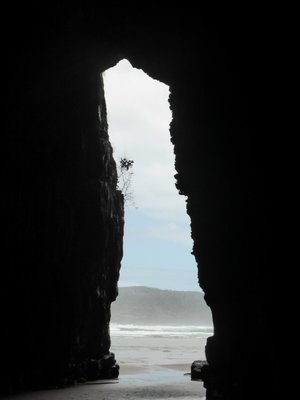 From inside Cathedral caves
