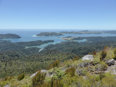 Splendid view from knuckle hill on Whanganui inlet