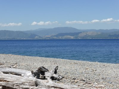 View from Kapiti island on mainland