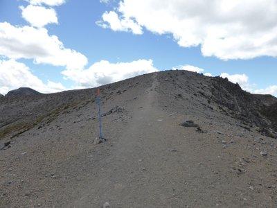 Hard track to upper Tama lake