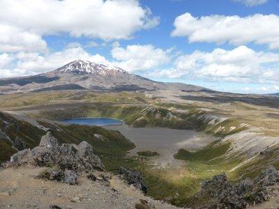 Lower Tama lake and Ruapehu