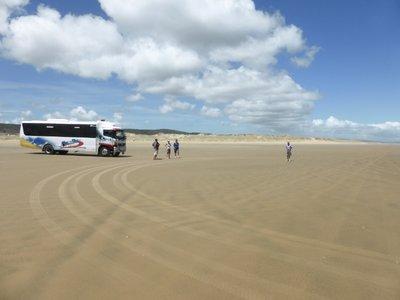 Our bus on 90 mile beach
