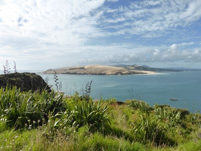 View from south head on sanddunes