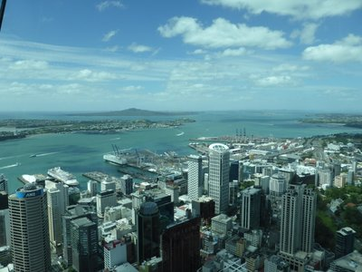 View of city and Rangitoto island