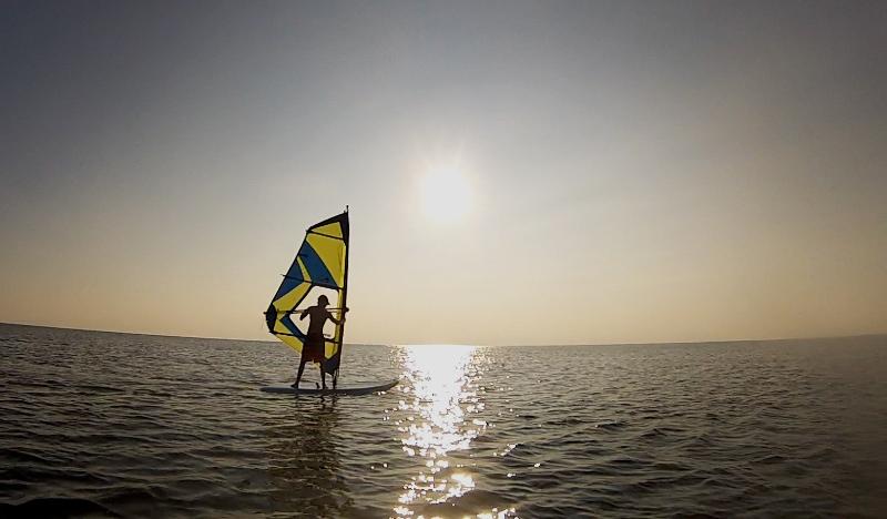 Zack learning to windsurf