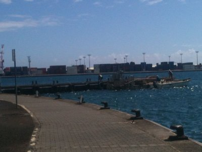 18 Global logistics in the port at Papetee