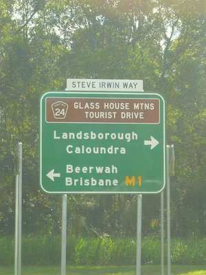 Aus -Steve Irwin Sign