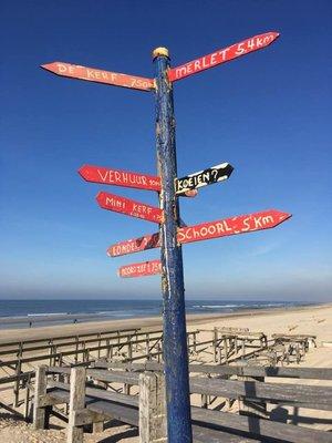 Sign at Schoorl Beach