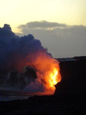 Where Lava meets Ocean