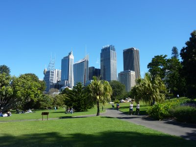 Sydney as seen from the Botanical Gardens