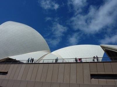 People enjoying the Opera House