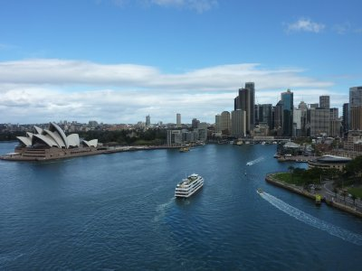 Ferry approaching Circular Quay, Sydney
