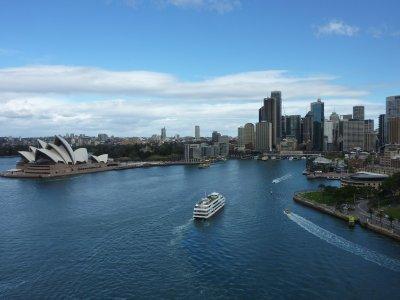 Ferry approaching Circular Quay, Sydney