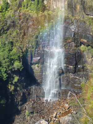 Waterfall at Govetts Leap Lookout near Blackheath, Blue Mountains