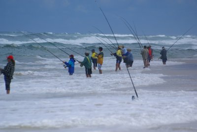 Fishermen on Fraser Island