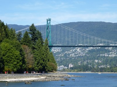Lion's Gate Bridge as seen from Stanley Park