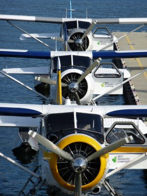 Floatplanes in Vancouver's Harbour